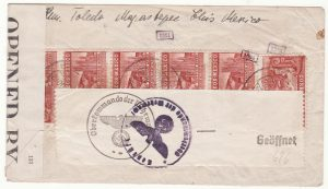 1941  MEXICO - GERMANY..WW2 CENSORED BERMUDA & GERMANY..