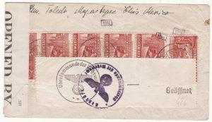 1941  MEXICO - GERMANY..WW2 CENSORED BERMUDA & GERMANY..