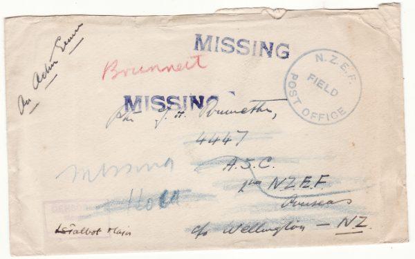 1941  FIJI.…WW2 CENSORED MISSING in CRETE & RETURNED TO SENDER....