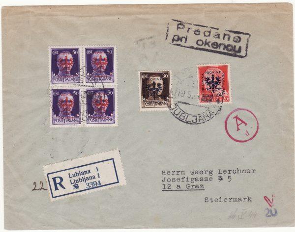 1944   ITALY - AUSTRIA…WW2 OCCUPATION SLOVENIA …