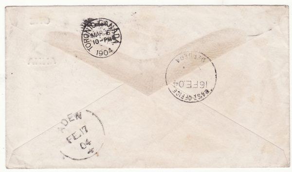 1904..SOMALILAND - CANADA..1904 SOMALILAND FIELD FORCE