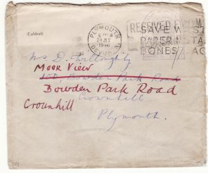 1940  GREAT BRITAIN …WW2 IMPROVISED NAVAL  CENSOR...