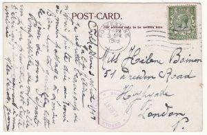1918..GREAT BRITAIN …WW1 BELGIAN AUTHORITIES at FOLKSTONE...
