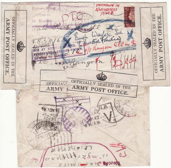 1942..GB - BURMA..WW2 ANGLO-AUSTRALIAN MILITARY MISSION 204 to CHINA a 3¾ YEAR JOURNEY of MAIL..