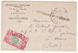 1912  REUNION - FRANCE..1912 OFFICIAL to COMMANDANT 4th LEGION…