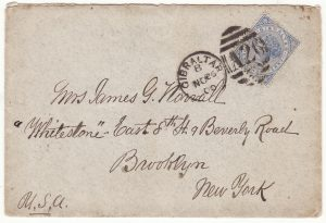 1900 GIBRALTAR - USA ..U.S.A.T. KILPATRICK enroute PHILIPPINES..