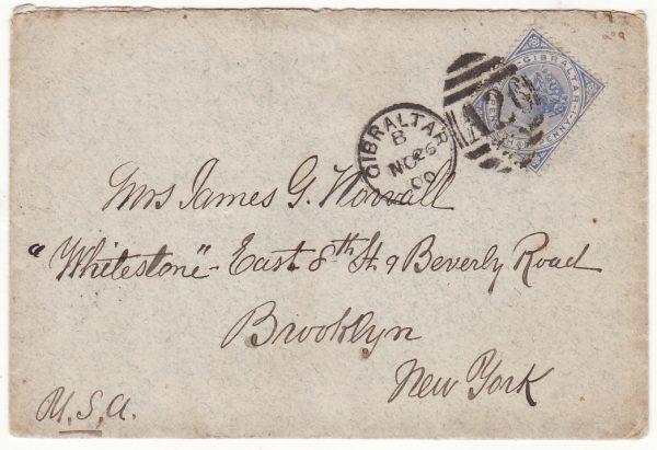 1900 GIBRALTAR - USA ..U.S.A.T. KILPATRICK enroute PHILIPPINES..