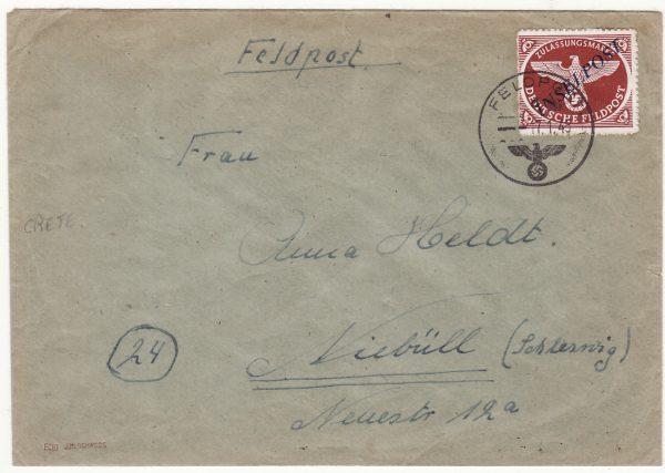 1945  CRETE - GERMANY..WW2 GERMAN OCCUPATION INSELPOST..