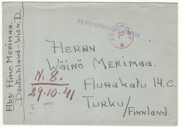 1941 FINLAND …FINNISH VOLUNTEERS of WAFFEN SS….
