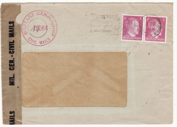 1945  GERMANY..ALLIED OCCUPATION UBERROLLER MAIL…