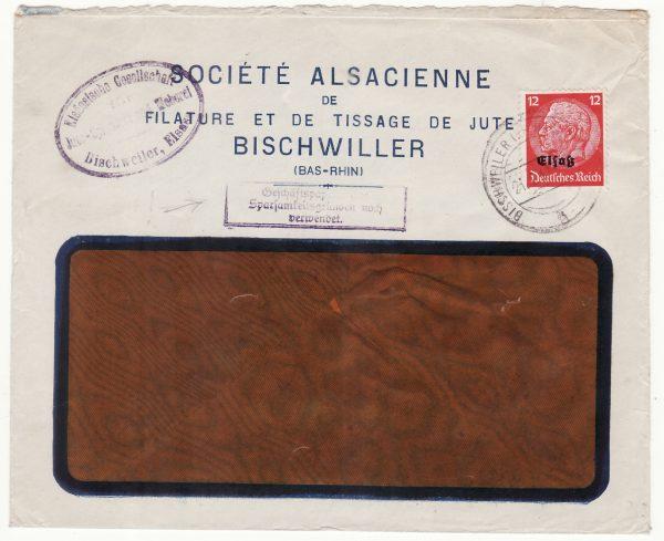 1941 FRANCE..WW2 GERMAN OCCUPATION of ALSACE LORRAINE…