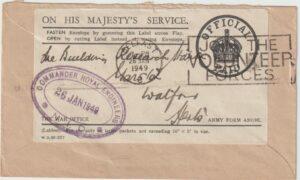 1949  IRELAND - GB…1949 OHMS COMMANDER ROYAL ENGINEERS...