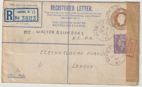 1942   GREAT BRITAIN….1942 CZECHOSLOVAK FORCES LONDON…