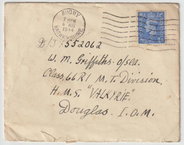 1944  GREAT BRITAIN (ISLE OF MAN)…H.M.S. VALKYRIE…