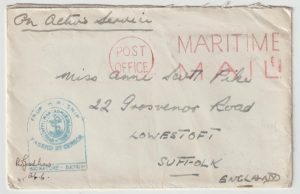 "1944  SIERRA LEONE - GB…WW2 ROYAL NAVAL BARRACKS ""KISSY"""