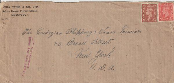 1944  GB - USA..WW2 NORWEGIAN SHIPPING & TRADE MISSION…