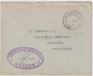 1946  GREECE - GB…GREEK CIVIL WAR BRITISH NAVAL MISSION…