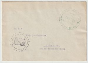 1950  GERMANY…POST WAR ALLIED OCCUPATION  from DUTCH CONSULATE…
