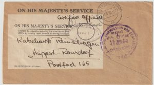 1950  GERMANY…POST WAR O.H.M.S. ALLIED OCCUPATION CERTIFIED OFFICIAL…