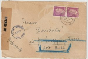 1945  CZECHOSLOVAKIA - AUSTRIA ..ALLIED OCCUPATION UBERROLLER MAIL…