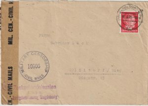 1945  GERMANY ..ALLIED OCCUPATION UBERROLLER MAIL…