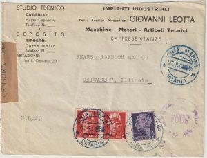 1945  ITALY - USA…IONIA MARINA CATANIA..