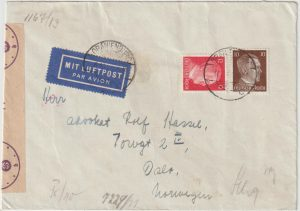 1944   GERMANY - NORWAY…WW2 AIRMAIL from ORANIENBURG