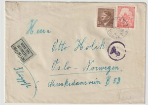 1942  BOHEMIA & MORAVIA - NORWAY…WW2 CENSORED…