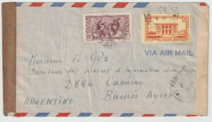 1944 FRENCH COLONIES |MARTINIQUE - ARGENTINA..INFORMATION & PRESS SERVICES