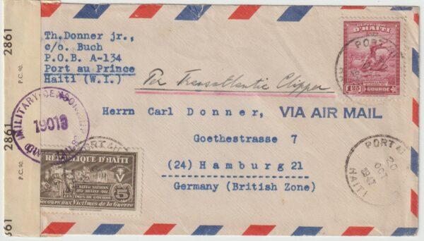 1947  HAITI - GERMANY..ALLIED OCCUUPATION…