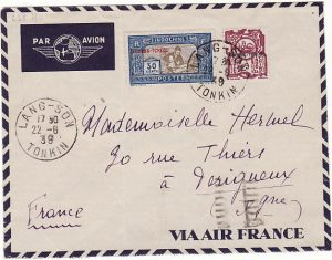 CHINA-FRANCE [KWANG-CHOW FRENCH POST OFFICE in CHINA by AIRMAIL]