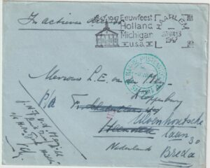1947  NED. EAST INDIES - NETHERLANDS…STRUGGLE for INDEPENDENCE NAVAL MAIL..