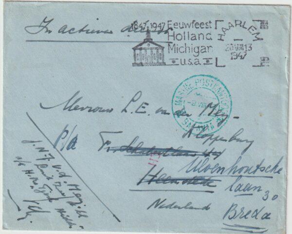 1947  NED. EAST INDIES - NETHERLANDS…STRUGGLE for INDEPENDENCE NAVAL MAIL..