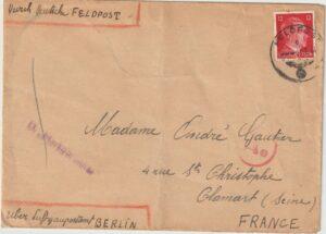 1944  GERMANY - FRANCE…FRENCH SAILOR on CAPTURED / INTERNED SHIP..