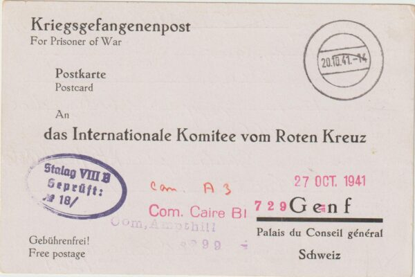 1941  GERMANY - SWITZERLAND