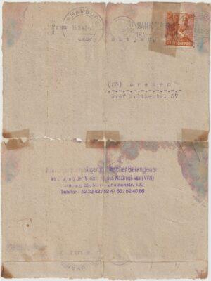 1947   GERMANY…ANTI FASCISTS SEARCH SERVICE VNN…