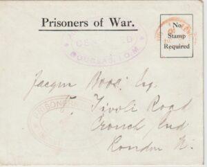 1916    GREAT BRITAIN (ISLE OF MAN)… WW1 POW DOUGLAS…