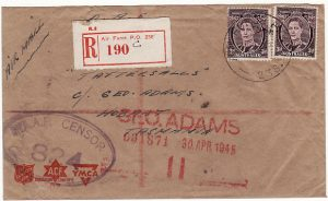 PAPUA & N.G.-AUSTRALIA [WW2 AUST. FORCES REGISTERED CENSORED]