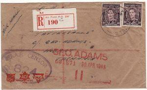 PAPUA & N.G.-AUSTRALIA [WW2 AUST. FORCES REGISTERED CENSORED]