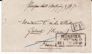 GERMANY-FRANCE [FRANCO PRUSSIAN WAR POW MAIL]