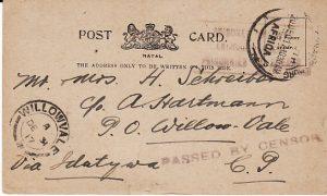 SOUTH AFRICA [WW1 NATAL STATIONARY POW MAIL]