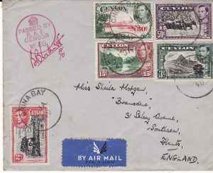 CEYLON-GB [WW2 AIRMAIL RAF CENSOR]