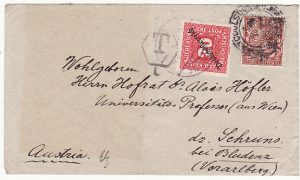 GB-AUSTRIA [EARLY AUSTRIAN REPUBLIC-POSTAGE DUE-PERFIN]