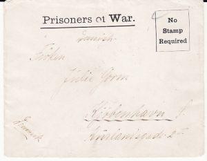 GB-DANMARK [WW1 FELTHAM POW CAMP]