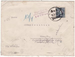 CHINA-GERMANY [WW2 CENSORED INTERNED IN POLAND & RETURNED TO SENDER]