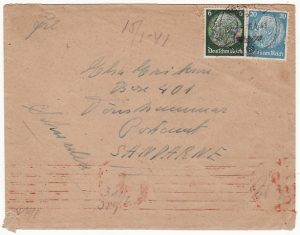 GERMANY-SWEDEN [FELDPOST MAIL from HOSPITAL]