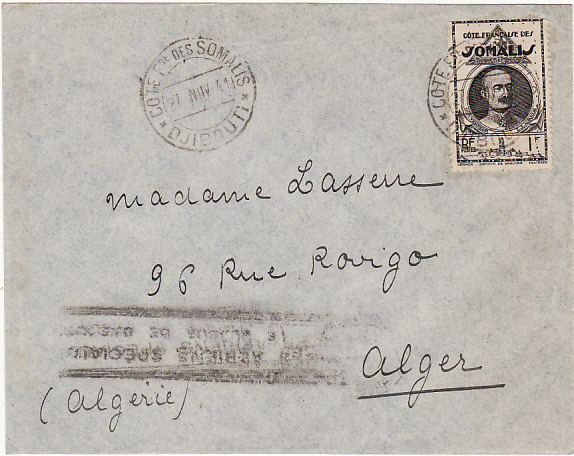 FRENCH SOMALI COAST-ALGERIA [9th BLOCKADE RUNNER FLIGHT WW2]