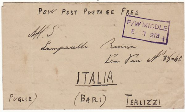PALESTINE-ITALY [WW2 POW in CAMP 321]