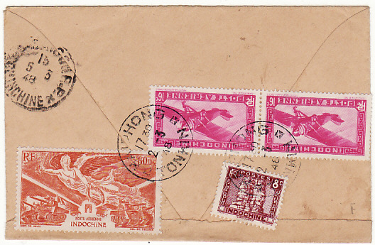 INDO-CHINE-FRANCE [1948 HAIPONG to PARIS]