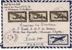 INDO-CHINE-FRANCE [1948 HNA-THANG ANNAM to PARIS]
